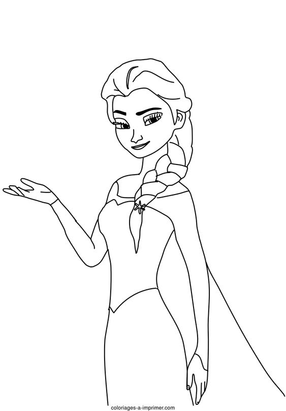 Coloriage la reine des neiges - Elsa