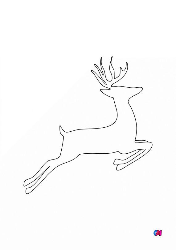 Coloriage de Noël - Renne 1