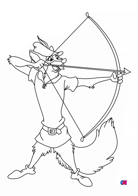 Coloriage Robin des Bois - Robin des bois