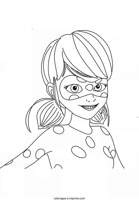 Coloriage Miraculous Ladybug - Ladybug sourire