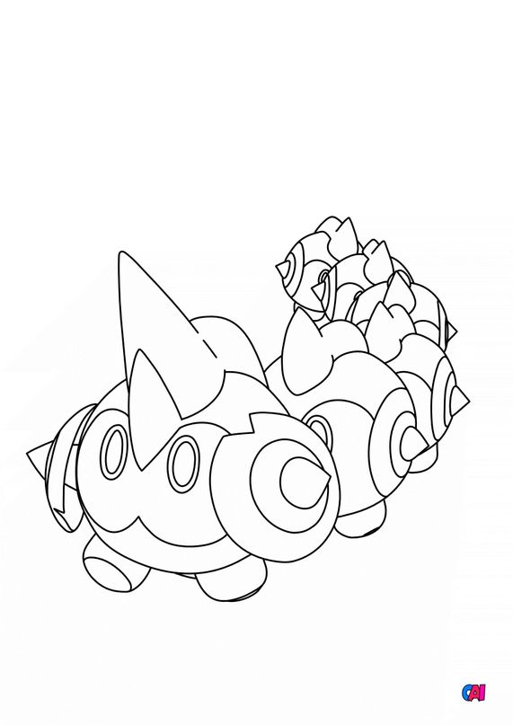 Coloriage Pokémon - 870 - Hexadron