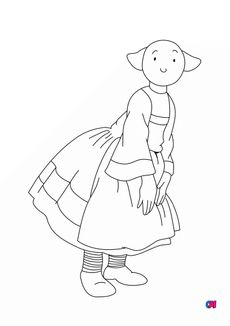 coloriage Bécassine