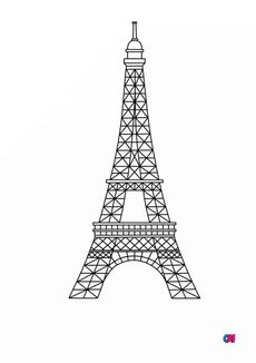 Coloriage La Tour Eiffel