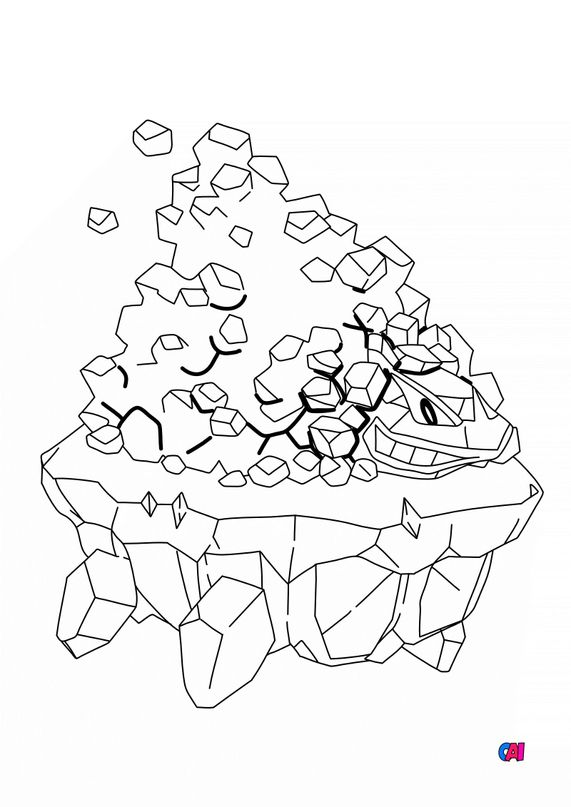 Coloriage Pokémon - 838 - Wagomine
