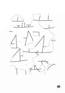 Coloriage Port et voiliers - Paul Klee