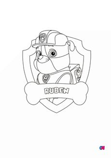 Coloriage Ruben badge