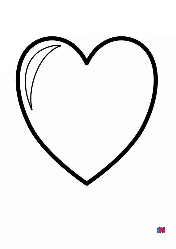 Mes premiers coloriages - Un coeur
