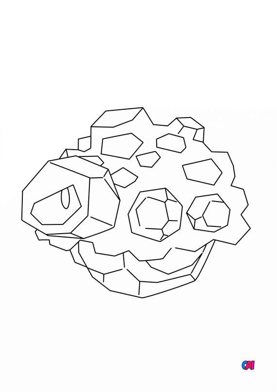 Coloriage Pokémon - 837 - Charbi