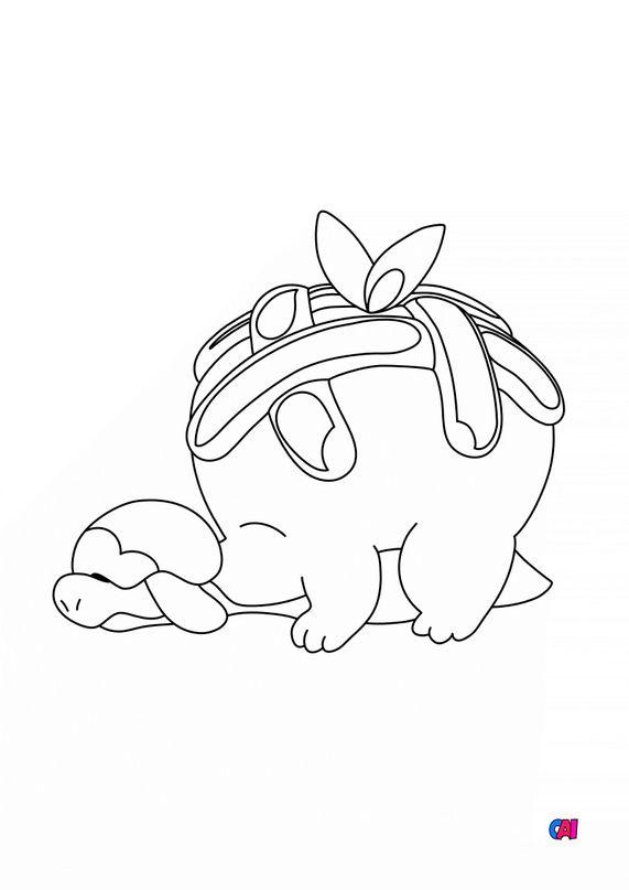 Coloriage Pokémon - 841 Dratatin