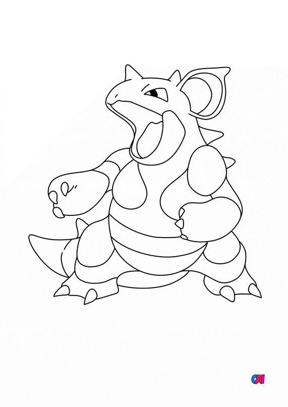 Coloriage Pokémon - 031-Nidoqueen