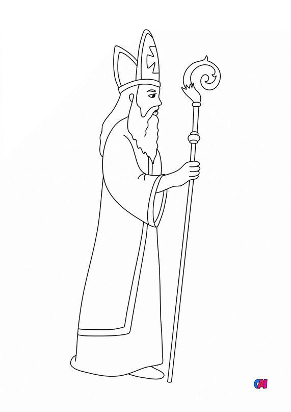 Coloriage de Noël - Saint Nicolas