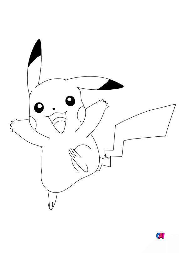 Coloriage Pokémon - 25 - Pikachu